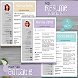 Neat Teacher Resume Template + Cover Letter + References P