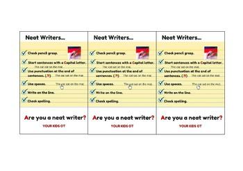 Neat Writer's Checklist!