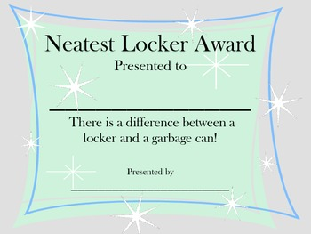 Neatest Locker Award