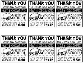 Neatness & Organization Motivational Reward Cards