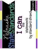 Nebraska 6th Grade ELA State Standards by Strand