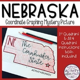 Nebraska Coordinate Graphing Picture 1st Quadrant & ALL 4 Quadrants