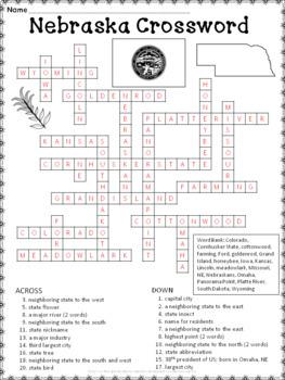 Nebraska Crossword Puzzle