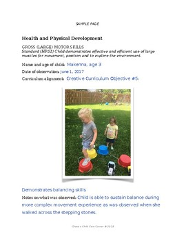 Portfolio Pages for Early Childhood Programs