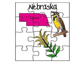 Nebraska Fact Puzzle Set