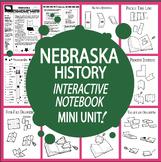 Nebraska History State Study Interactive Notebook Unit + AUDIO