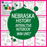 Nebraska History State Study Interactive Notebook Unit + AUDIO