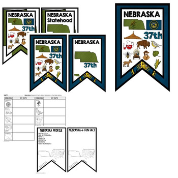 Nebraska History Word Wall, State Profile, Activity Pages