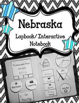Nebraska State Lapbook/Interactive Notebook.  US State History and Geography