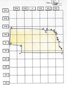 Nebraska Latitude and Longitude Coordinates Puzzle - 19 Points to Plot - FREE!