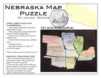 Nebraska Map Puzzle