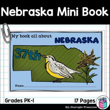 Nebraska Mini Book for Early Readers - A State Study