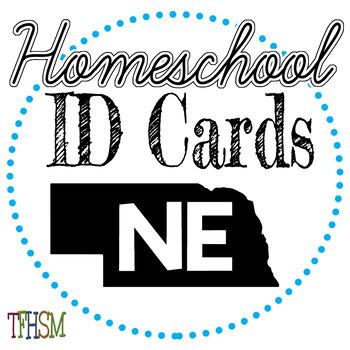 Nebraska (NE) Homeschool ID Cards for Teachers and Students