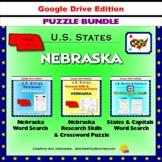 Nebraska Puzzle BUNDLE - Word Search & Crossword Activities - US States - Google