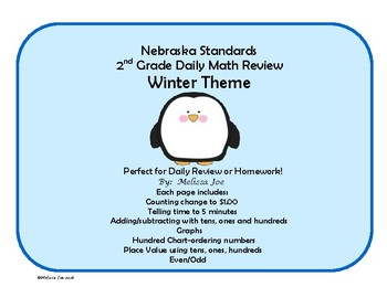 Nebraska Mathematics Standards 2nd Grade Math Review Winter Theme