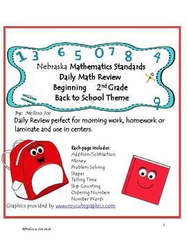 Nebraska Standards Back to School 2nd Grade Daily Math Review