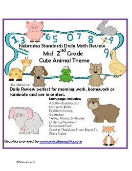Nebraska Mathematics Standards Mid 2nd Grade Daily Math Review