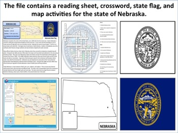 Nebraska - State Activity Set