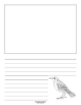Nebraska State Bird Notebooking Set (Western Meadowlark)
