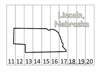 Nebraska State Capitol Number Sequence Puzzle 11-20.  Geog