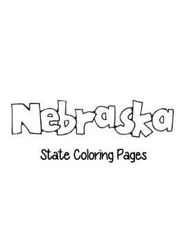 Nebraska State Coloring Pages