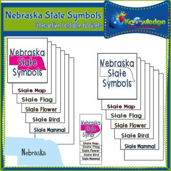 Nebraska State Symbols Interactive Foldable Booklets