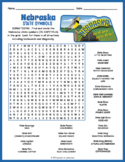 NEBRASKA State Symbols Word Search Puzzle Worksheet Activity