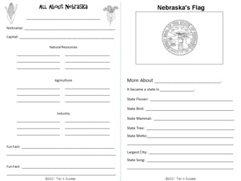 Nebraska Webquest Research Mini-Book Activity