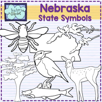 Nebraska state symbols clipart