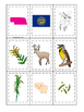 Nebraska themed Memory Matching and Word Matching preschool curriculum game