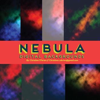 Nebula Digital Backgrounds and Embellishments Set