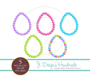 Necklace Clipart Set - Personal and Commercial Use