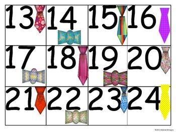 Necktie Numbers (100's Chart and Calendar)