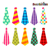 Neckties Clip Art - Great for Art Class Projects!