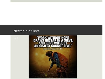 Nectar in a Sieve Study Guide