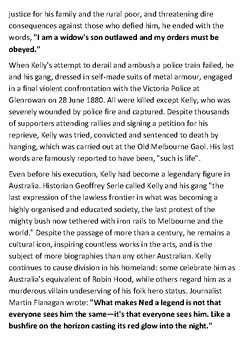 Ned Kelly Handout