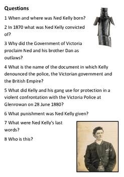Ned Kelly Handout