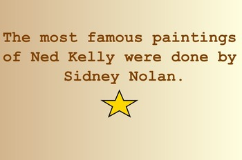 Ned Kelly Lesson