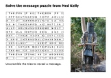 Ned Kelly Message Puzzle