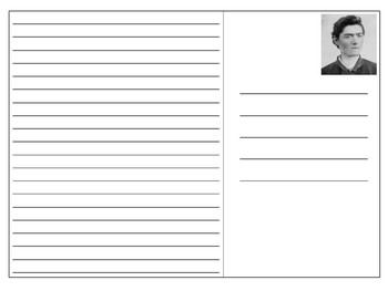 Ned Kelly Postcard Template