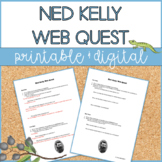 Ned Kelly | Web Quest | Distance Learning | Google Slides