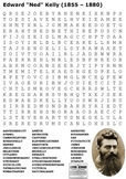 Ned Kelly Word Search