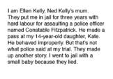 Ned Kelly playact - script