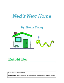 Ned's New Home retell book