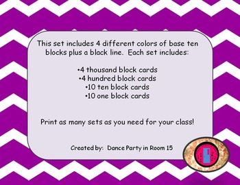 Need Base 10 Blocks but cannot afford to buy a class set?  This is all you need!