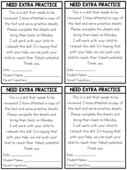 Need Extra Practice note