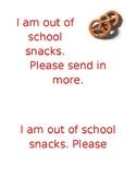 Need School Snack Reminder
