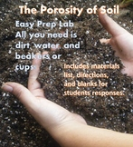 NO PREP Need a Lab Quick! -- Porosity of Soil (needs only