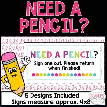 Need a Pencil Sign