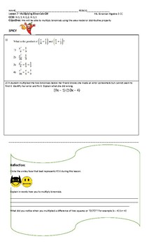 Need a fun way for students to practice multiplying polynomials? Try this!